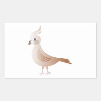 Pájaro estilizado de Brown Pegatina Rectangular