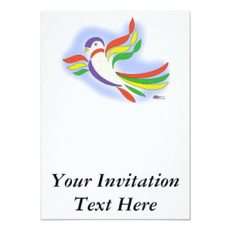 Pájaro estilizado de la paloma invitación