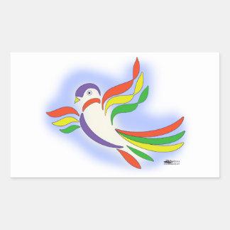 Pájaro estilizado de la paloma rectangular altavoces