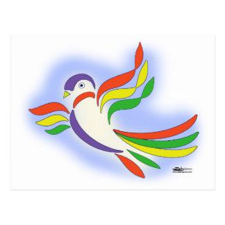 Pájaro estilizado de la paloma tarjetas postales