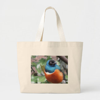 Pájaro exótico hermoso encaramado bolsa