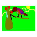 Pájaro Exótico Postal