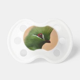 Pájaro exótico verde chupetes para bebes