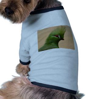 Pájaro exótico verde camiseta de perrito