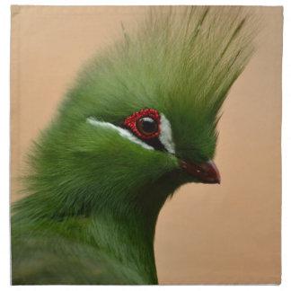 Pájaro exótico verde servilletas