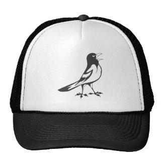 Pájaro feliz de Baltimore Oriole en blanco y negro Gorros