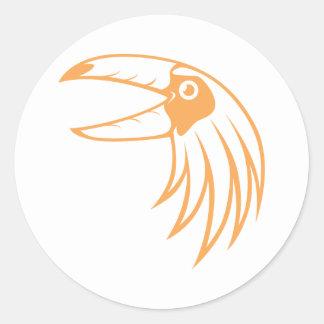 Pájaro feliz de Toucan Pegatina Redonda