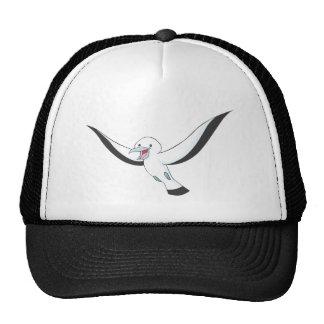 Pájaro feliz del albatros gorros bordados
