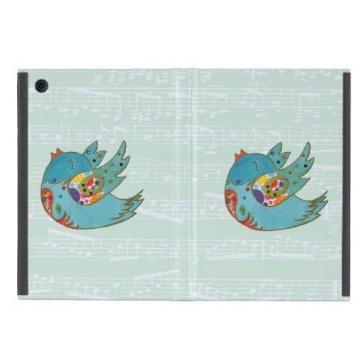Pájaro feliz lindo iPad mini cobertura
