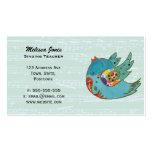 Pájaro feliz lindo plantillas de tarjetas personales