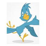 Pájaro feliz membrete personalizado