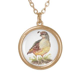 Pájaro femenino de las codornices de California de Colgante Redondo