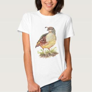 Pájaro femenino de las codornices de California de Remera