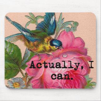 Pájaro feminista del vintage del mousepad con