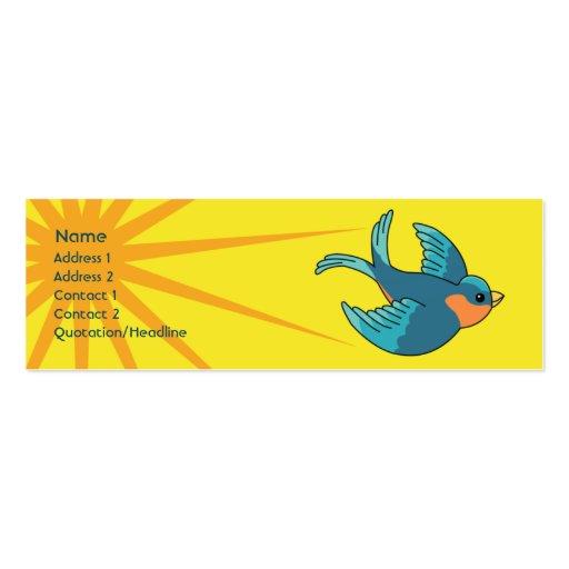 Pájaro - flaco tarjetas de visita mini