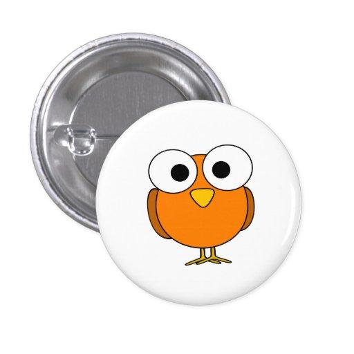 Pájaro Googly anaranjado del ojo Pins