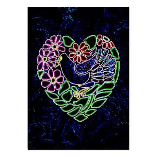 Pájaro gótico en corazón tarjetas de visita grandes