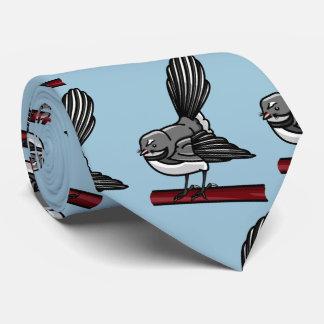 Pájaro gris lindo de la cola de milano pequeño corbatas personalizadas