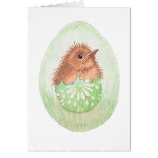 Pájaro gruñón en el huevo de Pascua Tarjeta De Felicitación