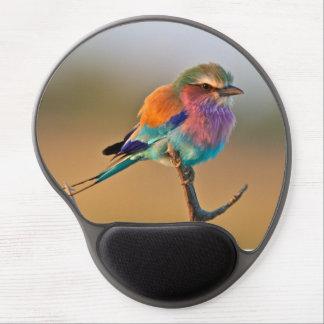 Pájaro hermoso de muchos colores alfombrilla gel
