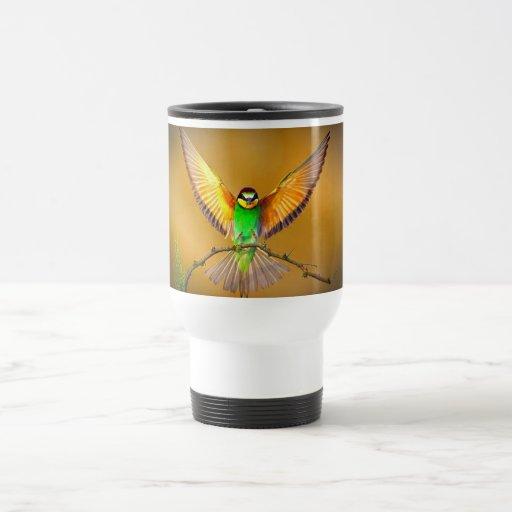 Pájaro hermoso tazas