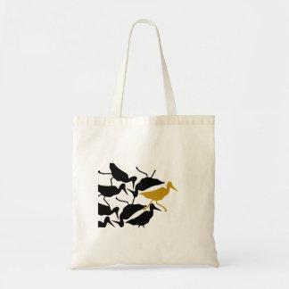Pájaro impar del guisado del pájaro hacia fuera bolsas lienzo