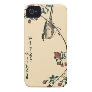 Pájaro japonés en la caja del teléfono de la rama funda para iPhone 4