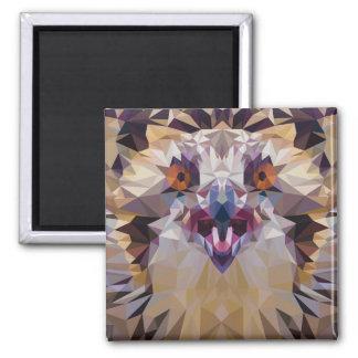 Pájaro joven de Osprey del arte del animal del Imán Cuadrado