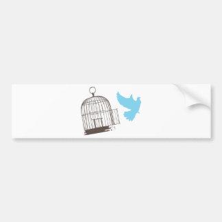 Pájaro libre pegatina de parachoque