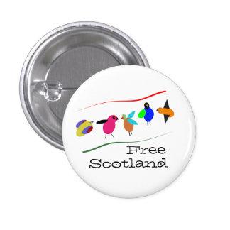 Pájaro libre Pinback del dibujo animado de Escocia Pin Redondo 2,5 Cm