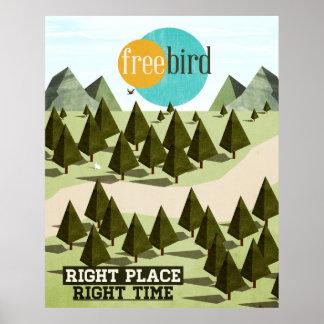 Pájaro libre póster