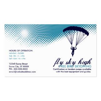 pájaro libre skydiving tarjetas de visita