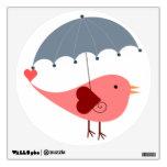 Pájaro lindo con el paraguas