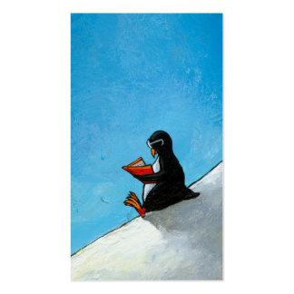 Pájaro lindo de la diversión del arte del pingüino plantillas de tarjetas de visita