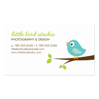 Pájaro lindo de la turquesa en una rama tarjetas de visita