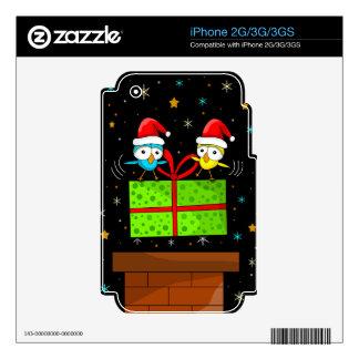 Pájaro lindo del navidad iPhone 2G skin