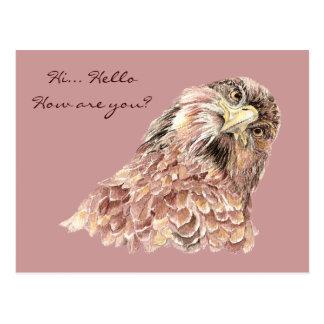 Pájaro lindo que dice qué personalizado animal tarjetas postales