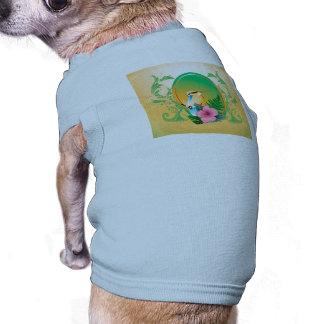 Pájaro lindo camisa de perro