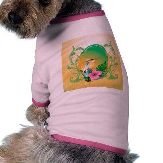 Pájaro lindo camiseta de perrito
