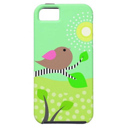 Pájaro lindo y Sun iPhone 5 Carcasas