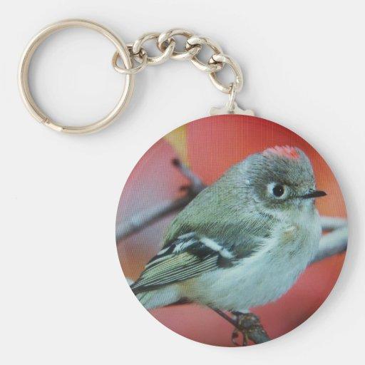 Pájaro Llavero Redondo Tipo Pin