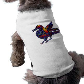 Pájaro loco playera sin mangas para perro