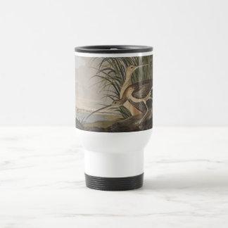 Pájaro longirrostro de la lavandera de zarapito de taza de viaje