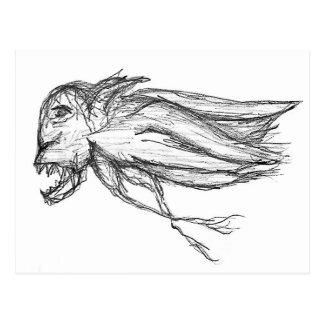 Pájaro malvado postal