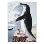 Pájaro marino del vintage, pingüino la Antártida d Felicitaciones