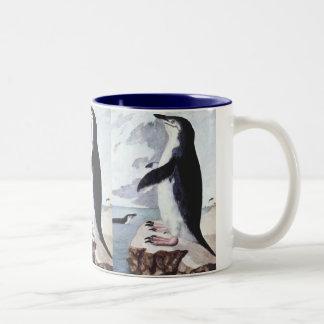 Pájaro marino del vintage, pingüino la Antártida Tazas De Café