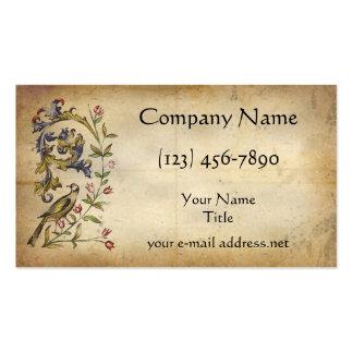 Pájaro medieval plantilla de tarjeta de negocio