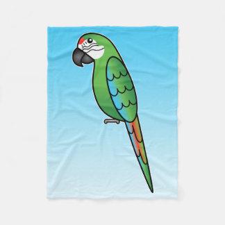 Pájaro militar del loro del Macaw del dibujo Manta De Forro Polar