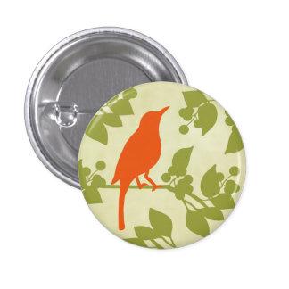 Pájaro moderno pin redondo 2,5 cm
