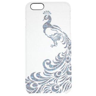 Pájaro moderno tribal del vintage del pavo real funda clearly™ deflector para iPhone 6 plus de unc